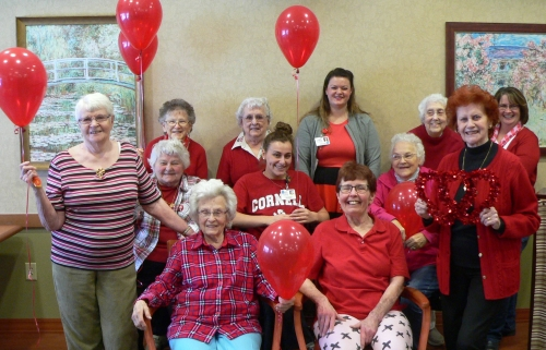 St. Francis Commons Comes Together In Support of National Wear Red Day